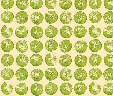 apple prints in green fabric by weavingmajor on Spoonflower - custom fabric