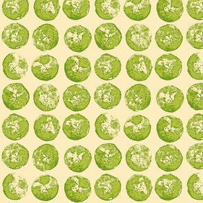 apple prints in green