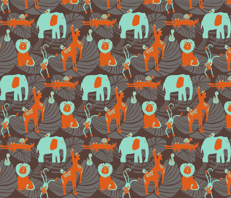 Jungle Fever Orange fabric by leeandallandesign on Spoonflower - custom fabric