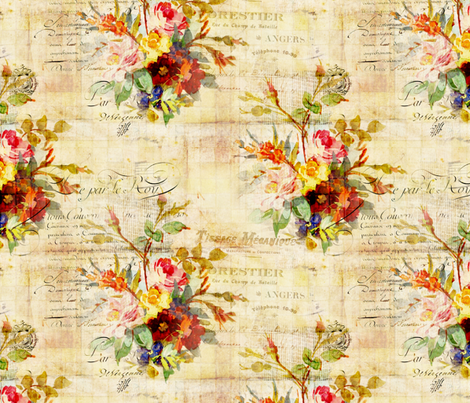 Flower Document fabric by peagreengirl on Spoonflower - custom fabric