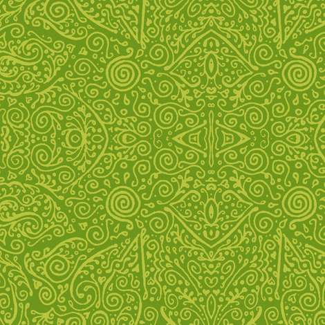 bridal mendhi in apple green fabric by weavingmajor on Spoonflower - custom fabric