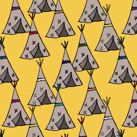Teepee City fabric by pond_ripple on Spoonflower - custom fabric