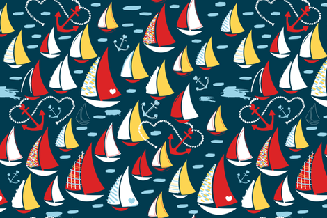 Nautical & Nice fabric by sara_berrenson on Spoonflower - custom fabric