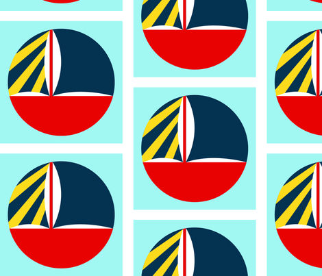 Circle_Boat fabric by erin_mitchel on Spoonflower - custom fabric