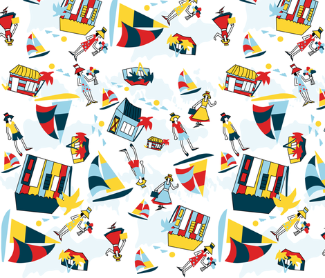 Sail_Away fabric by pink_koala_design on Spoonflower - custom fabric