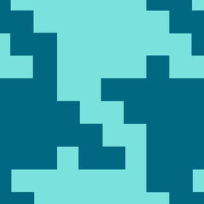 Houndstooth GIANT teal and turquoise