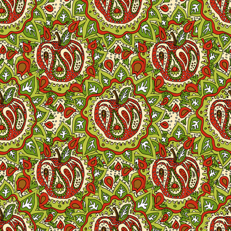Paisley Apple fabric by eclectic_house on Spoonflower - custom fabric