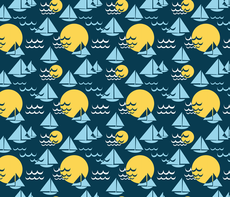 Boats fabric by cleverviolet on Spoonflower - custom fabric