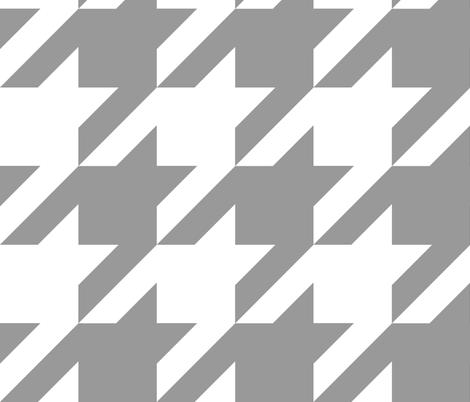 Modern Cottage ~ The Houndstooth Check ~ Grey and White ~ Medium fabric by peacoquettedesigns on Spoonflower - custom fabric