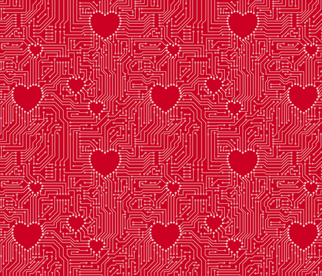 geekred1 fabric by leopardessmoon on Spoonflower - custom fabric