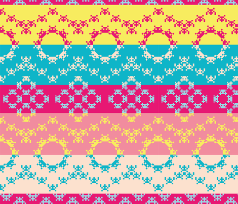 Aztec Invaders fabric by taffyandtwine on Spoonflower - custom fabric