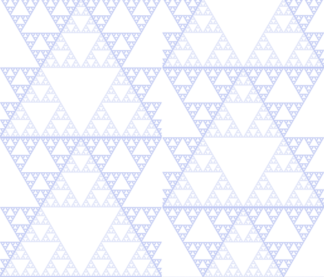 sierpinski triangles fabric by evelynjlamb on Spoonflower - custom fabric