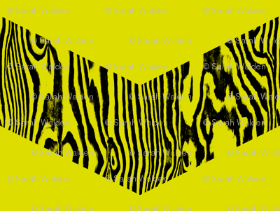 Chevron Safari ~ Black and Chartreuse Zebra