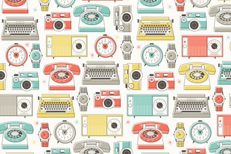 Retro Tech fabric by clairicegifford on Spoonflower - custom fabric