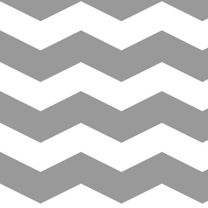Modern Cottage ~ Chevrons ~ Grey & White