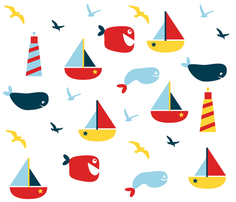 sailing fun fabric by ditsykins on Spoonflower - custom fabric