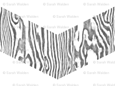 Chevron Safari ~ White and Grey Zebra Wood
