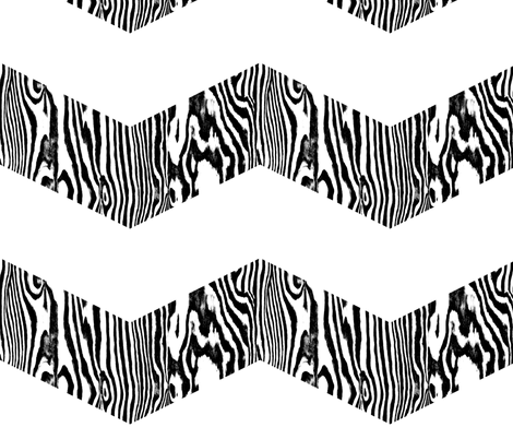 Chevron Safari ~ Black and White Zebra fabric by peacoquettedesigns on Spoonflower - custom fabric
