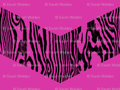 Chevron Safari ~ Black and Magenta Zebra