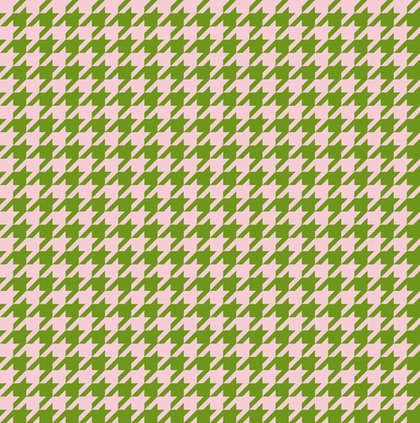 The Houndstooth Check ~ Leaf & Pink fabric by peacoquettedesigns on Spoonflower - custom fabric