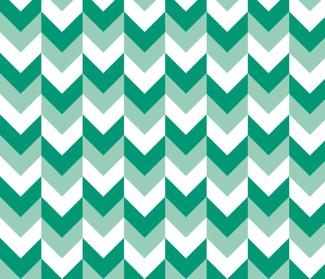Chevron Offset - Emerald fabric by shelleymade on Spoonflower - custom fabric