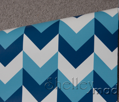 Chevron Offset - Blues