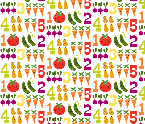 5veggies fabric by shindig_design_studio on Spoonflower - custom fabric