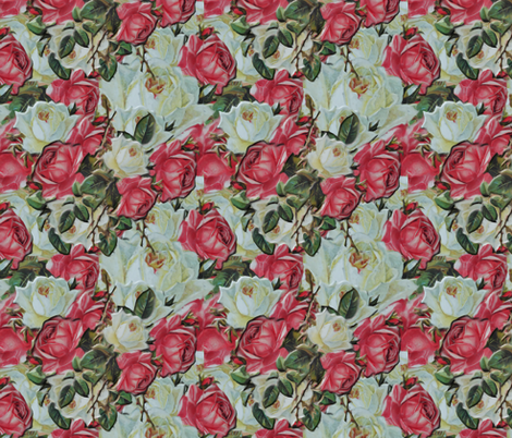 Smothered in Roses fabric by anniedeb on Spoonflower - custom fabric