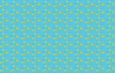 Lovely Linens (Turquoise & Yellow) fabric by vanillabeandesigns on Spoonflower - custom fabric