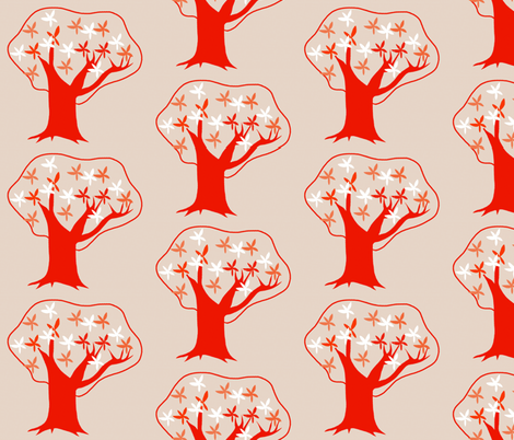 tree  fabric by mummysam on Spoonflower - custom fabric