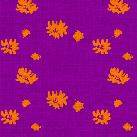 Lovely Linens (Orange & Eggplant) fabric by vanillabeandesigns on Spoonflower - custom fabric