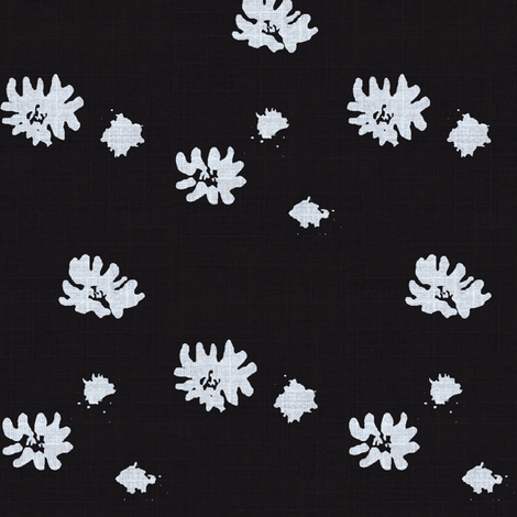 Lovely Linens (Black & White) fabric by vanillabeandesigns on Spoonflower - custom fabric