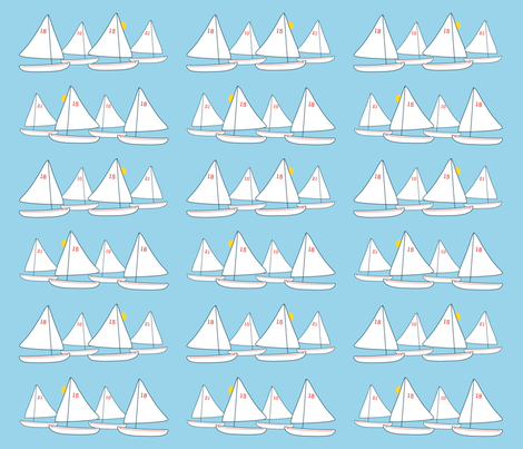 SAIL Race Day fabric by baleandtwine on Spoonflower - custom fabric