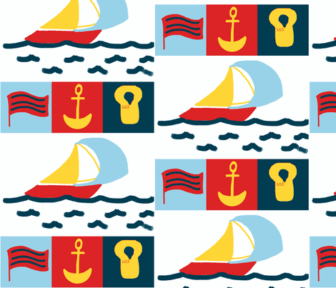 Nautical-child fabric by bellylala on Spoonflower - custom fabric