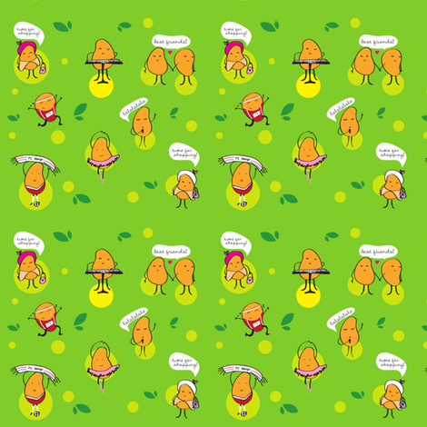 Happy Mangos fabric by sammio17 on Spoonflower - custom fabric
