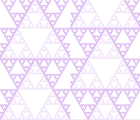 purple_sierpinski fabric by evelynjlamb on Spoonflower - custom fabric