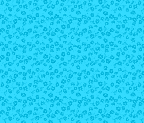 Summer Chic Aqua fabric by de-ann_black on Spoonflower - custom fabric
