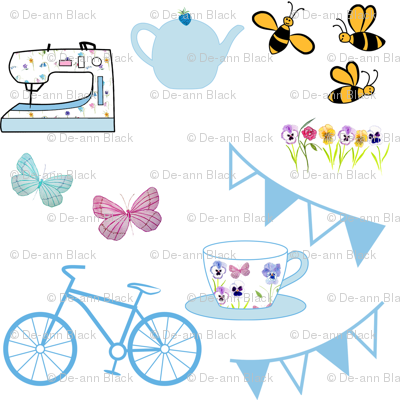 Blue Bunting Small