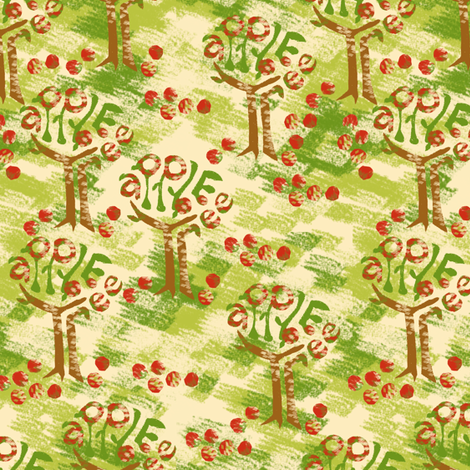 Apple Orchard fabric by eclectic_house on Spoonflower - custom fabric