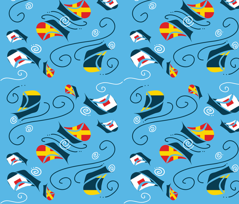 Sailing fabric by suzan_ on Spoonflower - custom fabric