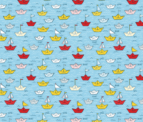 Paper Boats fabric by amandamcgee on Spoonflower - custom fabric
