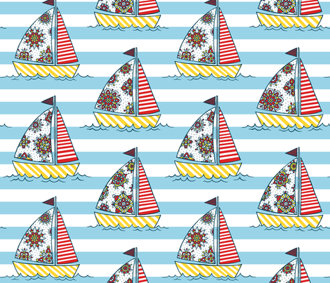 sunny sailing fabric by simut on Spoonflower - custom fabric