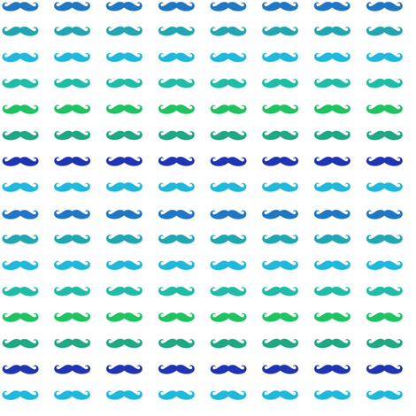 multicolor_blue_mustache fabric by bricolees on Spoonflower - custom fabric