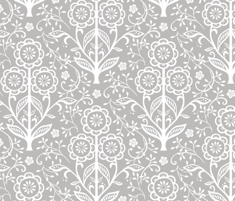 Cut Paper Flowers fabric by jillbyers on Spoonflower - custom fabric