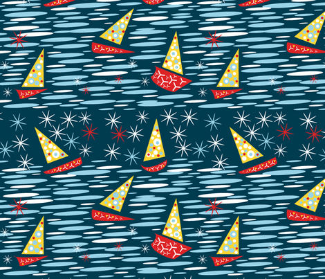Night Sea Fantasy fabric by telden on Spoonflower - custom fabric