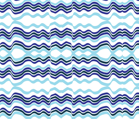 Bumpy Waters (Purple and Blue) fabric by vanillabeandesigns on Spoonflower - custom fabric