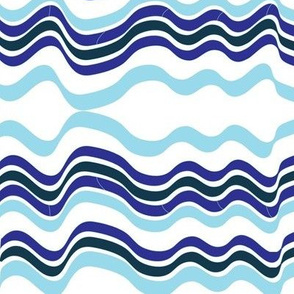 Bumpy Waters (Purple and Blue)