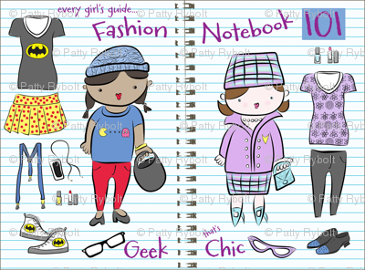 The 'geek chic' Fashion Notebook 101!