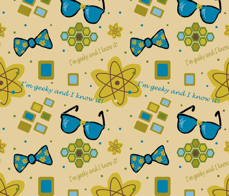 I'm Geeky And I Know It! fabric by arttreedesigns on Spoonflower - custom fabric