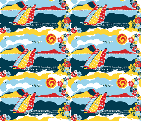 Sailboarding fabric by paula's_designs on Spoonflower - custom fabric